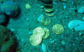 Картинка золото, монеты, клад