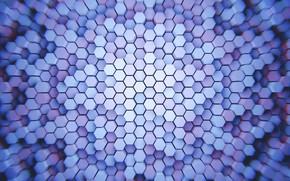 Картинка шестиугольники, гексагон, столбцы