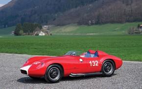 Картинка Maserati, Ретро, W.R.E.-Maserati, Красный Масерати