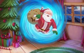 Картинка Рисунок, Рождество, Праздник, Санта Клаус, Арт, Christmas, Art, Santa Claus, Подарки, Illustration, by Guilherme Freitas, …