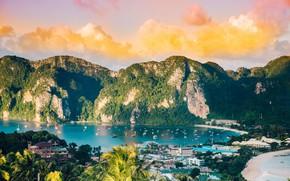 Картинка море, горы, яхты, Таиланд, Пхипхи
