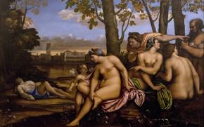 Картинка эротика, картина, мифология, Смерть Адониса, Sebastiano del Piombo, Себастьяно дель Пьомбо