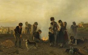 Картинка German painter, немецкий живописец, 1879, oil on canvas, Дюссельдорфская художественная школа, Düsseldorf school of painting, …