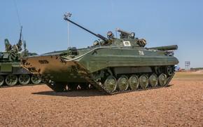 Картинка полигон, БМП-2, Армия России, выставка военной техники