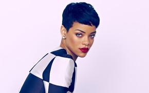 Картинка губы, красные, мулатка, Rihanna, Риана, singer, перица