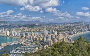 Картинка Панорама, Испания, Аликанте
