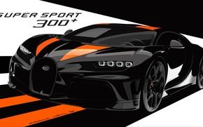Картинка Bugatti, гиперкар, Chiron, 2019, Super Sport 300+