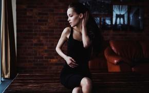 Картинка девушка, поза, платье, Феникс Райа, Дарья Клепикова