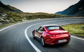 Картинка красный, поворот, Mazda, тарга, 2019, MX-5 RF