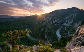 Картинка Nature, Landscape, Dawn, Morning, Bulgaria