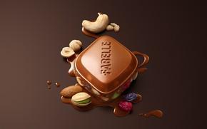 Картинка ягоды, шоколад, орехи, ассорти, Fabelle Rocky Road