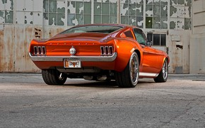 Картинка Mustang, Ford, Muscle, Ford Mustang, Coupe, Fastback, Old, Widebody