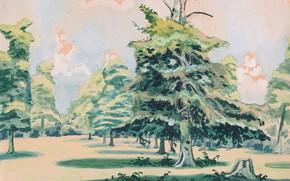 Картинка 1920, Untitled, Charles Ephraim Burchfield, possibly Green Grove