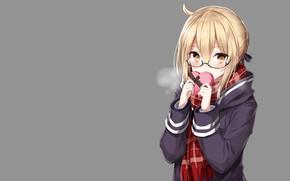 Картинка фон, девочка, форма, сейбер, Судьба ночь схватки, Fate / Stay Night