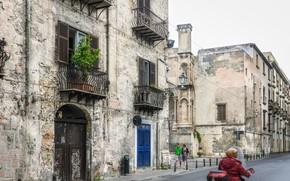Картинка Италия, Улица, Street, Italia, Palermo, Палермо, Балконы, Здания, Italy