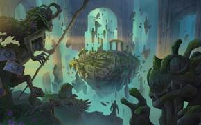 Картинка девушка, розы, существа, арка, арена, Hearthstone Heroes of Warcraft, Хартстоун Герои Варкрафта