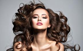 Картинка девушка, лицо, волосы, портрет, макияж, Valua Vitaly