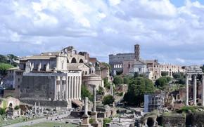 Картинка Рим, Италия, руины, форум, Палатин