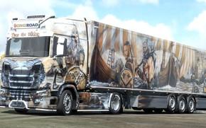 Картинка дизайн, игра, грузовик, аэрография, викинги, Simulator 2, Euro Truck