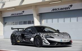 Картинка купе, McLaren, боксы, 2020, V8 twin-turbo, 620R, 620 л.с., 3.8 л.