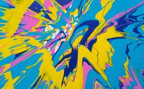 Картинка брызги, абстракция, краска, разводы, холст
