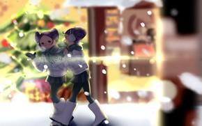 Картинка зима, девочки, сапоги