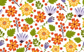 Картинка цветы, pattern, summer, colorful, flower