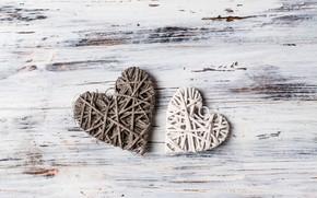 Картинка любовь, сердце, сердечки, love, wood, romantic, hearts, valentine's day