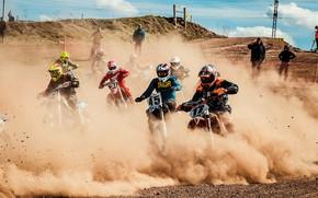 Картинка гонка, Мотокросс, мотоспорт, motocross, эндуро, Мотоциклетный кросс