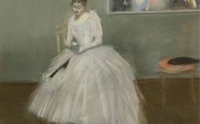 Картинка картина, жанровая, Le Carnet de Bal, Жан-Луи Форен, Jean-Louis Forain