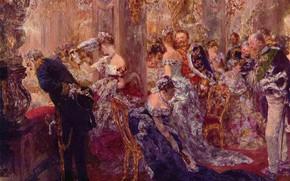 Картинка картина, жанровая, Adolf Friedrich Erdmann von Menzel, Адольф фон Менцель, В Белой Комнате