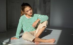 Картинка портрет, девочка, мода, Елизавета Хоменко, Фотограф Максим Лаухин
