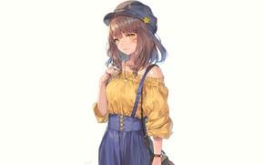 Картинка девушка, стиль, белый фон, Final Fantasy XIV