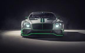 Картинка Bentley, Continental, гоночное авто, вид спереди, GT3, 2018
