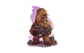 Картинка Star Wars, Chewbacca, Derek Laufman