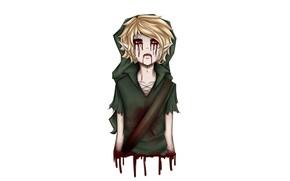 Картинка кровь, эльф, нежить, creepypasta, Крипипаста