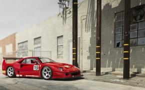Картинка Ferrari, Ferrari F40, Ferrari f40 LM