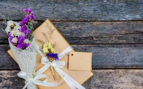 Картинка цветы, подарок, Праздник
