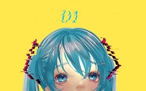 Картинка девушка, Hatsune Miku, Vocaloid