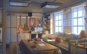 Картинка свет, интерьер, помещение, порядок, Miku House