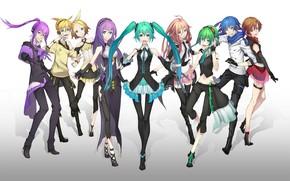 Картинка девушки, аниме, арт, парни, vocaloid, персонажи