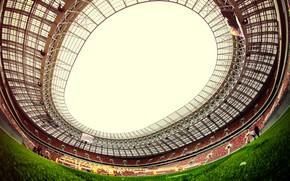 Картинка Поле, Спорт, Футбол, Крыша, Россия, Стадион, Luzhniki, Stadium, Газон, Трибуна, Лужники, Luzhniki Stadium, Главный Стадион, …
