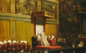 Картинка Jean Auguste Dominique Ingres, 1814, Папа Пий VII в Сикстинской Капелле
