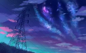 Картинка небо, ночь, звёзды