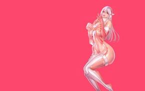 Картинка Girl, Fantasy, Sexy, Art, figure, Elf, Minimalism, Characters, Bow, Ren Wei Pan, Happy holiday!, Xmas …