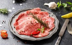 Картинка мясо, специи, розмарин