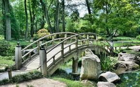 Картинка Мост, Япония, Парк