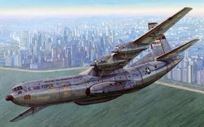 Картинка ВВС США, американский военно-транспортный самолёт, US Airforce, Douglas C-133 Cargomaster