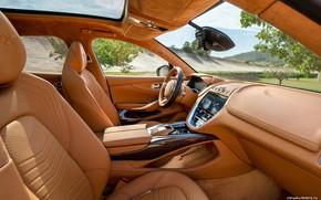 Картинка Aston Martin, Салон, Интерьер, Внедорожник, DBX