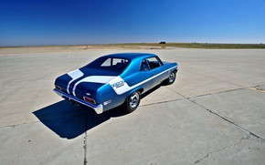 Картинка Muscle, Car, Blue, 1970, Nova